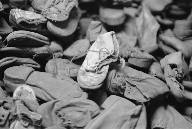 Pile of Victims' Shoes at Auschwitz